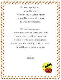 Poems About Halloween For Kindergarten by If I Were A Pumpkin Halloween Pumpkin Poem Generator 2nd 3rd