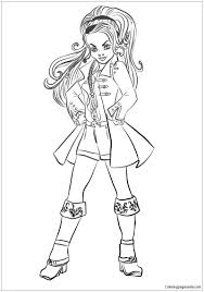 Descendants Wicked World CJ Hook Coloring Page Coloringpagesonly Pages Cj