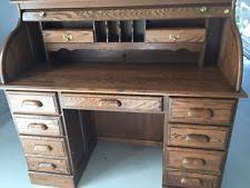 Ethan Allen Dark Pine Roll Top Desk by Oak Roll Top Desk Ebay