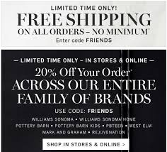 Williams Sonoma 20% Off + Free Shipping - No Minimum! ~ Runs On ... Download Sherwin Williams Wallpaper Coupon Code Gallery Different Prices Across Pottery Barn Divisions Nursery Beddings Great White Shark In Long Island Sound Together Bathrooms Design Bathroom Hdware Storage Newport 50 Best Promo Emails Images On Pinterest Bedding Pretty Heavenly Mattress Westin At Home Fgrance Bedroom Wonderful Bed By Teens With Charming Hudson Coffee Table Side Boca Do Lobo Weekend Sales Nordstrom Anniversary Sale And More Mhattan Sofa Homesfeed Exceptional Store Today Fire It Up Grill Bath Body Works