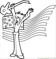 Rock Star Coloring Page