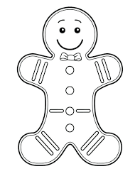 Gingerbread Man Coloring Pages Girl Page Blank Fox