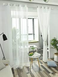 deconovo gardinen transparent vorhänge wohnzimmer voile