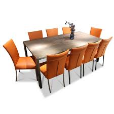 essgruppe leder hellbraun stuhlwerk 9 stühle 1 tisch