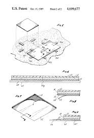Static Dissipative Tile Grounding Detail by Patent Us4699677 Method Of Making And Installing Conductive