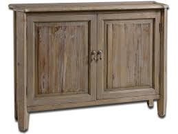 Uttermost Living Room Altair Reclaimed Wood Console Cabinet