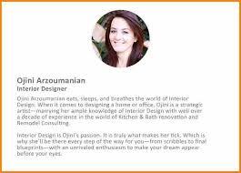 Designer Biography Examples Interior Bio Sample Professional Bios Template Resumes Example Front Room Ideas
