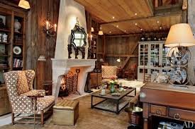 A Living Room That Blends Rustic And Traditional Style