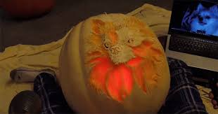 Largest Pumpkin Ever Carved by Detailed Pumpkin Carving Transforms It Into A