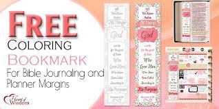 FREE BIBLE JOURNALING COLORING BOOKMARK
