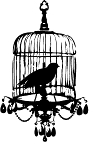 Prettiest Little Birdcage Chandelier Bird Silhouette