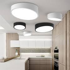 lumiere pour chambre nouveau moderne géométrie blanc noir acrylique led plafond le