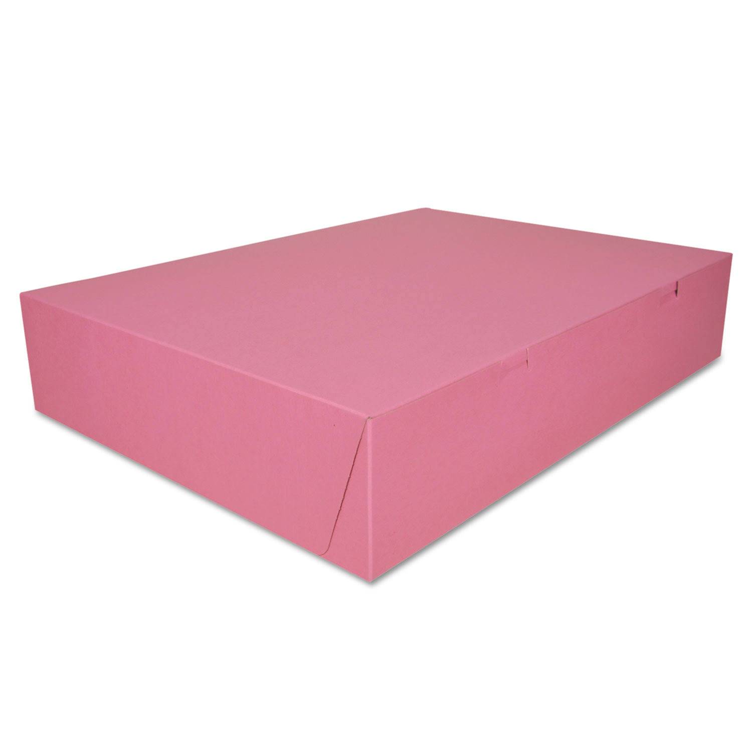 "SCT Paperboard Non-Window Lock-Corner Bakery Box - Pink, 6"" x 4 1/2"" x 2 3/4"", 50ct"
