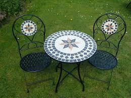 Ebay Patio Furniture Uk by Uk Gardens 3 Piece Metal Mosaic Garden Bistro Set For Two 60cm