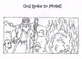Coloring Pages Moses Burning Bush Page Breadedcat Free Best Of And The