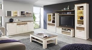 wohnwand anbauwand wohnzimmer pinie weiß eiche antik 310cm neu