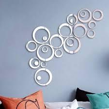 24 stück spiegel wandaufkleber kreise rund wandsticker wandtatoo spiegel wanddeko wandkunst selbstklebend abnehmbar für schlafzimmer wohnzimmer haus