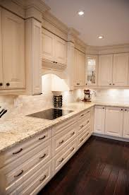 White Cabinets Dark Countertop Backsplash by White Kitchen Design Giallo Ornamental Granite Countertops White