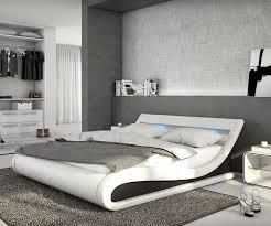 delife polsterbett belana weiss schwarz 180x200 cm mit led kopfteil polsterbett kaufen otto