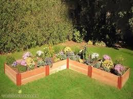 L Shaped Raised Planter Box Side Yard Garden Box