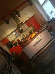 einbauküche mit insel küche rot inkl elektrogeräte