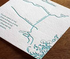 2 Sided Letterpress Map For Wedding Aaccomodations And Directions