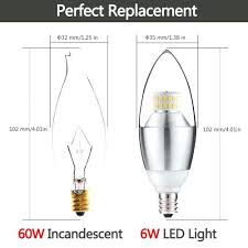 led chandelier bulbs 60w 6 watt led chandelier light incandescent