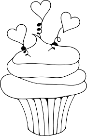 Heart Cupcake Clip Art