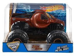 Amazon.com: Hot Wheels DHY71 Monster Jam Zombie Hunter Ram Truck, 1 ...