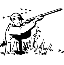 Man Hunting Fowl Coloring Pages
