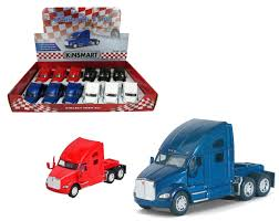 100 Semi Truck Toy Kenworth T700 Box Of 12 Pull Back 5 168 Scale By Kinsmart KT5357