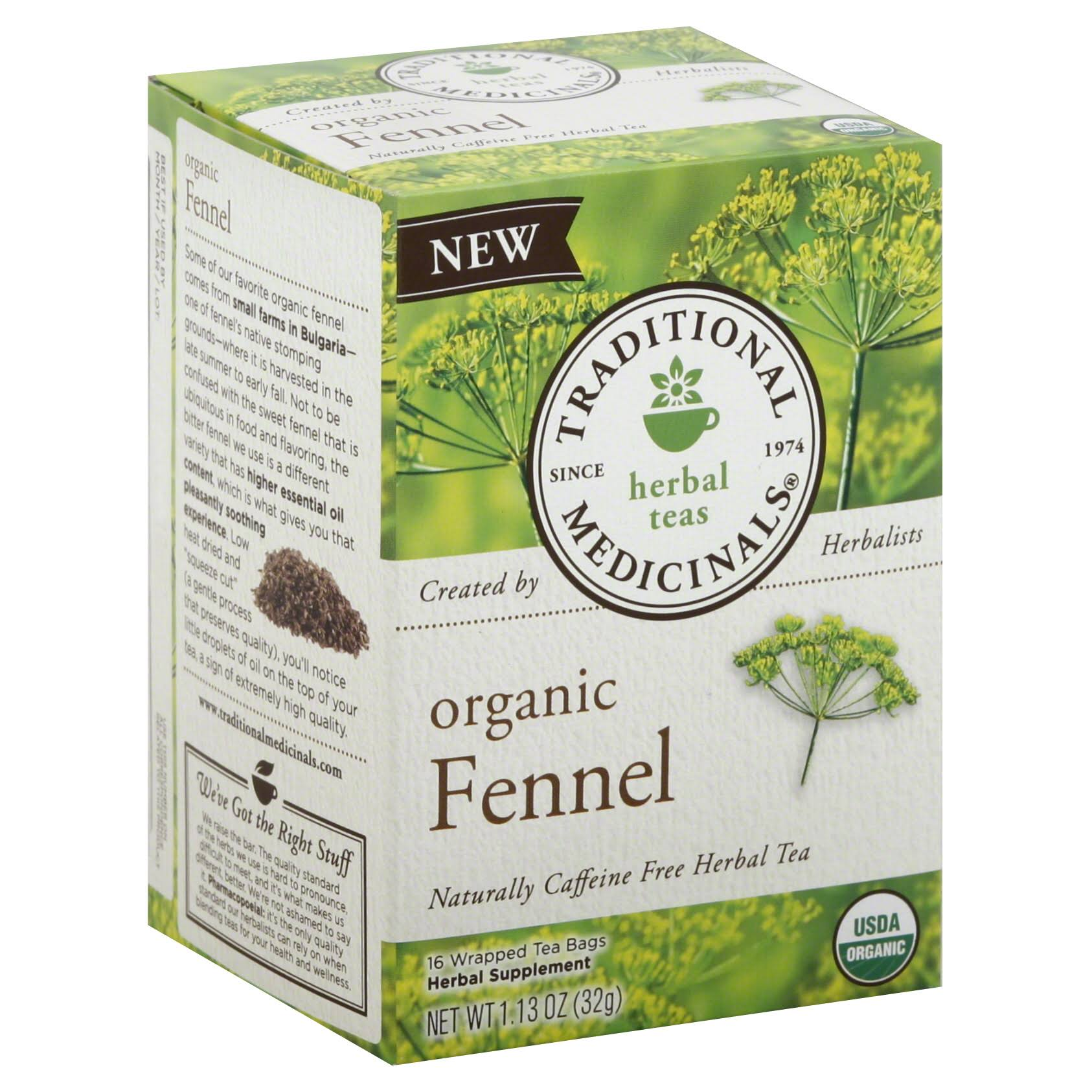 Traditional Medicinals Organic Fennel Tea - 16 Tea Bags