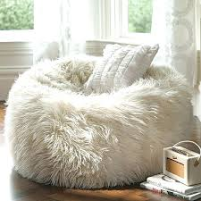 White Leather Bean Bag Giant Furry Brown With Regard To New Property Chair Plan