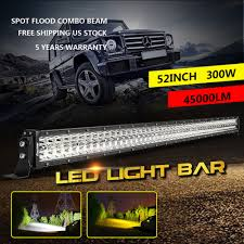 Dual-Row 300W 52inch LED Light Bar Flood Spot Car Truck Boat Driving ... 4x Offroad 4inch 18w Led Light Bar Pods 4wd Truck Jeep Flood Bumper Amazoncom Led Bars 18w 9v30v Cree Driving Lights Best Led Light Bars For Truck Dualrow 300w 52inch Spot Car Boat 30in Singlerow Hidden Mounting Brackets 20 Inch 100w Spotflood Combo 8560 Lumens Cree How To Install An Bar On The Roof Of My Better Dot Approved 40 42in 240w On Trucks Common Installation Issues Questions Chevrolet Silverado Stealth Torch Series 1 30 Top Ubox Tailgate Strip Waterproof 60 Yellowredwhite