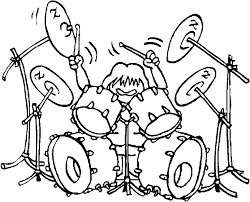 Rock And Roll Drummer Coloring Page