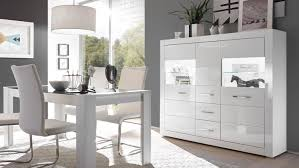 highboard bianco vitrine buffet schrank in weiß hochglanz