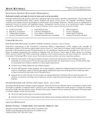 Sample Security Manager Resume Best Executive Services Site Image