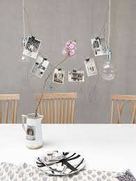 Decoration Dining Room Decorating Ideas With DIY Hanging Lamp And Pictures On Wall Without