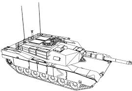 M1 Abrams Tank Coloring Page