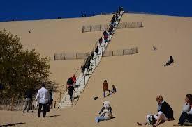 escalier en mode rapide photo de dune du pilat la teste de buch