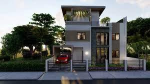 104 Housedesign 12 X 5 M 3 Storey House Design 39 X 16 Ft Moskarn Design