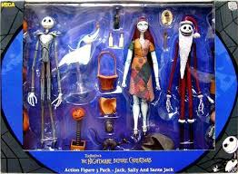 Nightmare Before Christmas Bath Toy Set by Neca The Nightmare Before Christmas Jack Sally Santa Jack Action