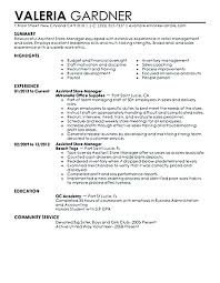 Sample Store Manager Resume Resumes Twenty Co Assistant Example Retail Clothing