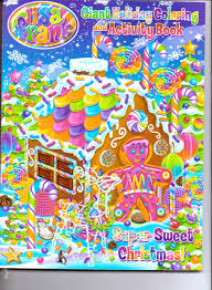 Lisa Frank Giant Holiday Coloring Activity Book Super Sweet Christmas Amazon Books