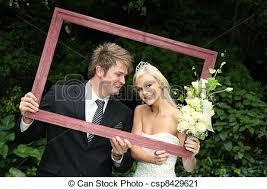 encadré heureux mariage image bois