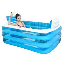 double inflatable bathtub couple bath barrel thickened