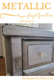 How to Spraypaint and Glaze Furniture