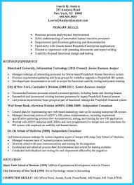 Business Systems Analyst Resume Example Targeted To Job