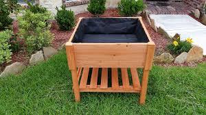 raised garden bed on legs portwingscom sub irrigation lumber
