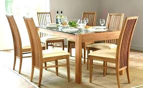 Round Table 6 Chairs With Glass Dining